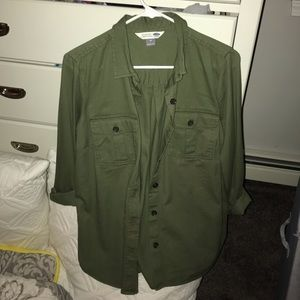 Army Green button up